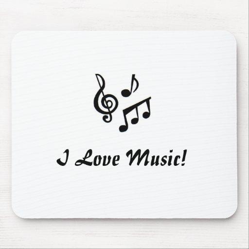 Amo la música Mousepad Alfombrillas De Raton