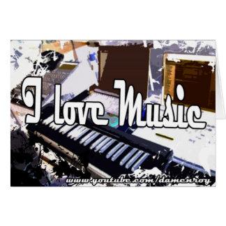 Amo la música (postal) [el estudio de la música [ tarjeta de felicitación