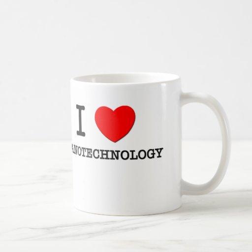 Amo la nanotecnología Taza Básica Blanca