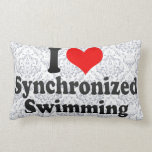 Amo la natación sincronizada almohadas