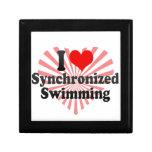 Amo la natación sincronizada caja de joyas