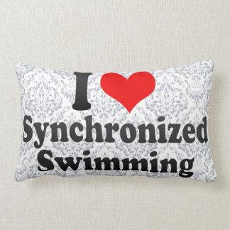 Amo la natación sincronizada cojín