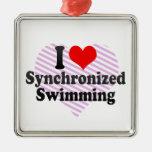 Amo la natación sincronizada ornamento de reyes magos