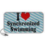 Amo la natación sincronizada laptop altavoz