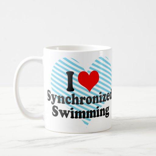 Amo la natación sincronizada taza de café