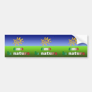 Amo la Natura I Love Nature in Italian Car Bumper Sticker