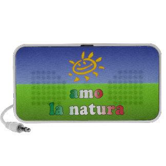 Amo la Natura I Love Nature in Italian Laptop Speakers