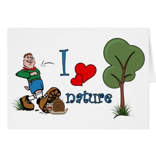 Amo la naturaleza felicitación