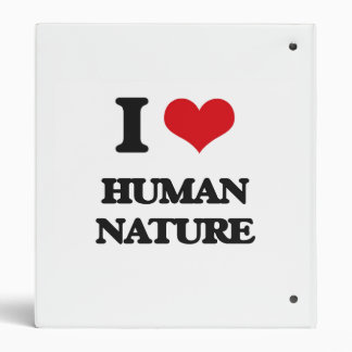 "Amo la naturaleza humana carpeta 1"""