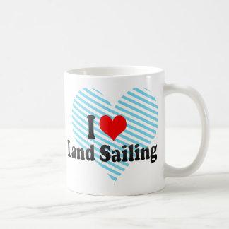 Amo la navegación de la tierra tazas de café