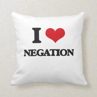 Amo la negación almohadas