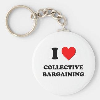 Amo la negociación colectiva llavero personalizado