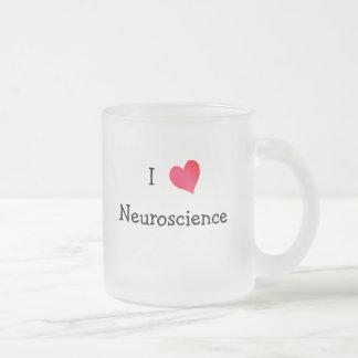 Amo la neurología taza de cristal