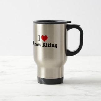 Amo la nieve Kiting Tazas De Café