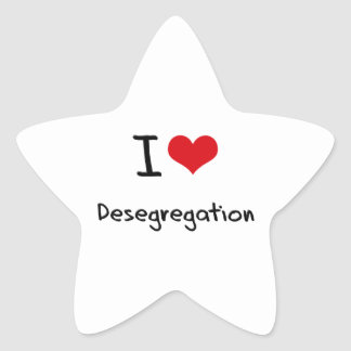 Amo la no segregación pegatina en forma de estrella