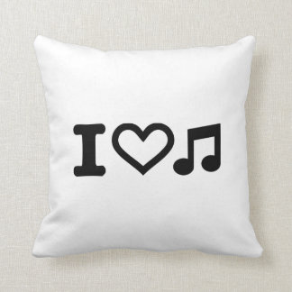 Amo la nota de la música almohadas