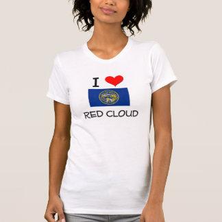 Amo la nube roja Nebraska Camisetas
