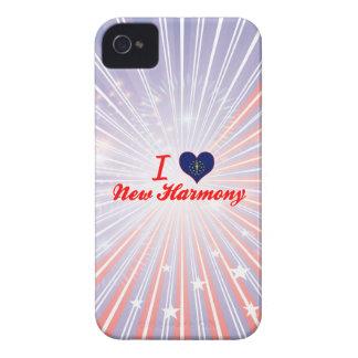 Amo la nueva armonía Indiana Case-Mate iPhone 4 Protectores
