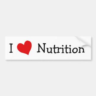 Amo la nutrición pegatina de parachoque