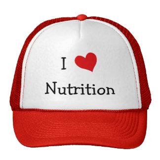 Amo la nutrición gorro de camionero