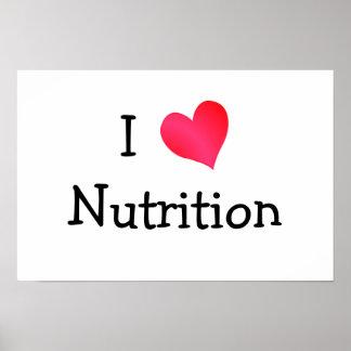 Amo la nutrición póster