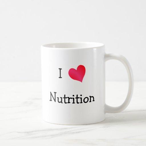 Amo la nutrición tazas de café