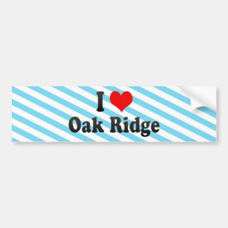 Amo la Oak Ridge Estados Unidos Pegatina De Parachoque