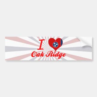 Amo la Oak Ridge Tennessee Etiqueta De Parachoque