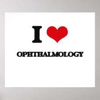 Amo la oftalmología póster