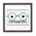 Amo la optometría caja de recuerdo de calidad
