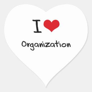 Amo la organización pegatina en forma de corazón