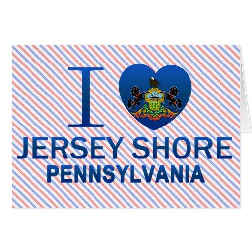 Amo la orilla del jersey, PA Felicitacion