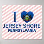 Amo la orilla del jersey, PA Posters