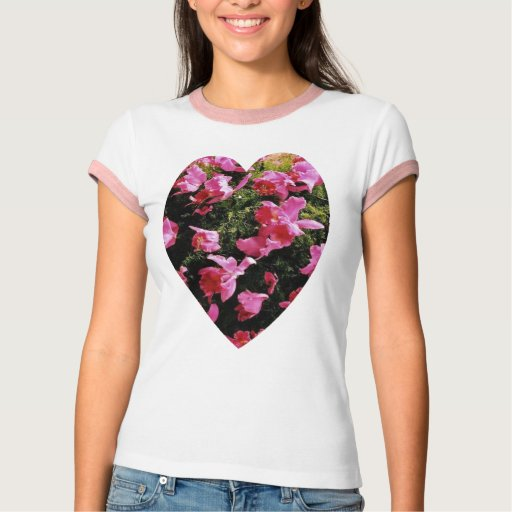 Amo la orquídea rosada, camiseta polera