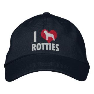 Amo la oscuridad de Rotties Gorra De Beisbol Bordada