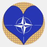 Amo la OTAN Pegatinas Redondas
