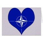 Amo la OTAN Tarjeton