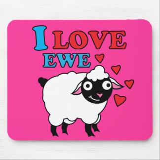 Amo la oveja Mousepad