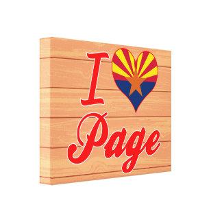 Amo la página, Arizona Impresion En Lona