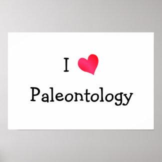 Amo la paleontología póster