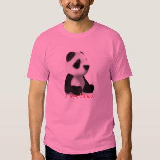 Amo la panda camisas