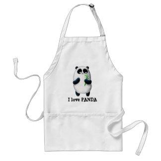 Amo la panda delantal