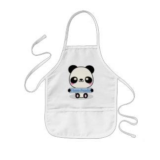 Amo la panda delantal infantil