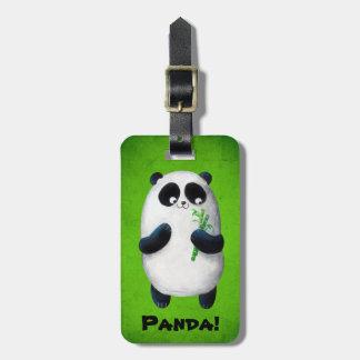 Amo la panda etiquetas maleta