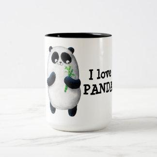 Amo la panda taza dos tonos