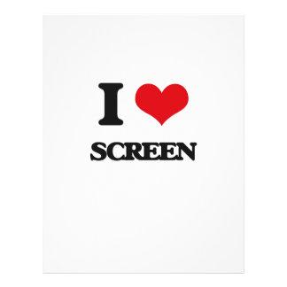"""Amo la pantalla folleto 8.5"""" x 11"""""""
