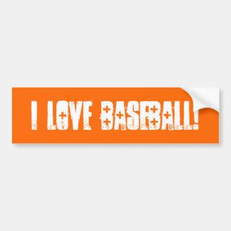 Amo la pared del béisbol a la pegatina para el par etiqueta de parachoque