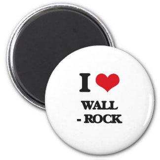 Amo la pared - roca imán redondo 5 cm