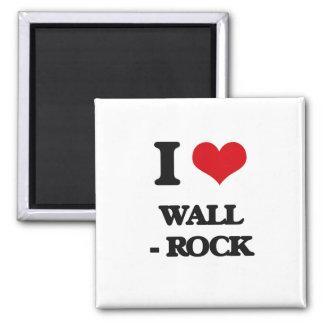 Amo la pared - roca imán cuadrado
