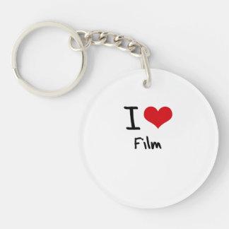 Amo la película llavero redondo acrílico a una cara